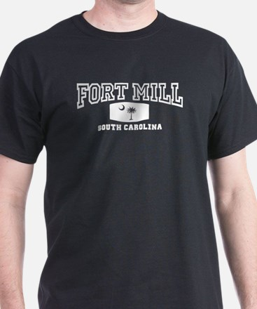 Fort Mill South Carolina, Palmetto State Flag T-Shirt