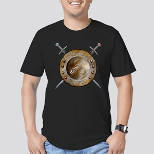 Shield and Sword Men's Fitted T-Shirt (dark)