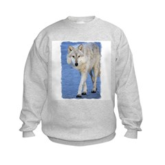 Approaching Wolf on Ice Sweatshirt