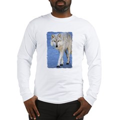 Approaching Wolf on Ice Long Sleeve T-Shirt