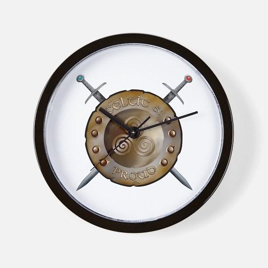 Shield and swords Wall Clock