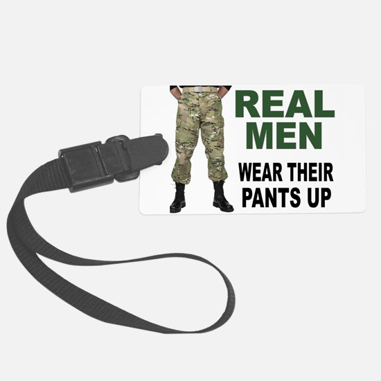 REAL MEN Luggage Tag