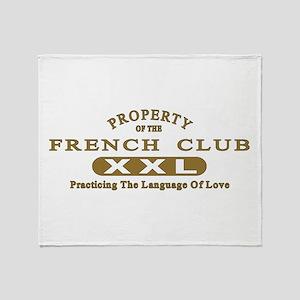 French Club Throw Blanket