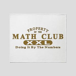 Math Club Throw Blanket