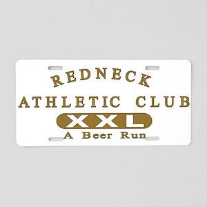 Redneck Athletic Club Aluminum License Plate