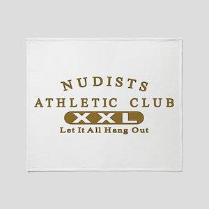 Nudist Athletic Club Throw Blanket