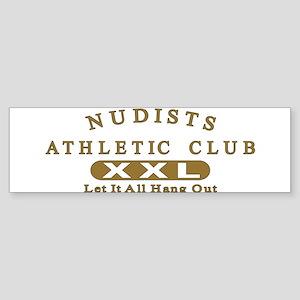 Nudist Athletic Club Sticker (Bumper)