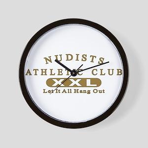Nudist Athletic Club Wall Clock