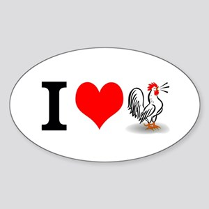 I Heart Cock Sticker (Oval)