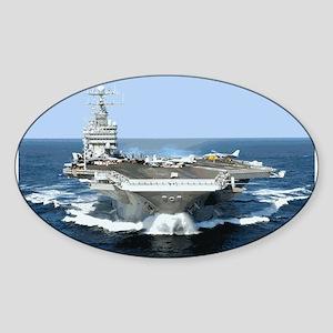 USS George Washington Oval Sticker