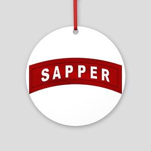 Sapper Tab Ornament (Round)