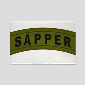 Sapper Tab Rectangle Magnet