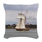 Pride Of Baltimore Ii Woven Throw Pillow