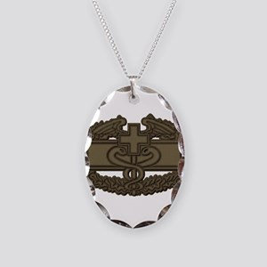 Combat Medic OD Necklace Oval Charm