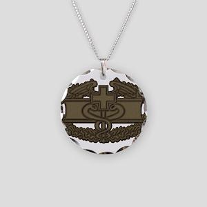 Combat Medic OD Necklace Circle Charm
