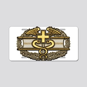Combat Medic(gold) Aluminum License Plate