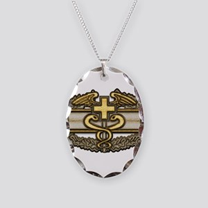 Combat Medic(gold) Necklace Oval Charm