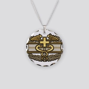 Combat Medic(gold) Necklace Circle Charm