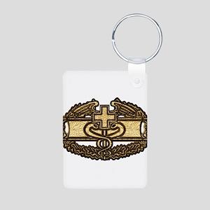 Combat Medic(gold) Aluminum Photo Keychain