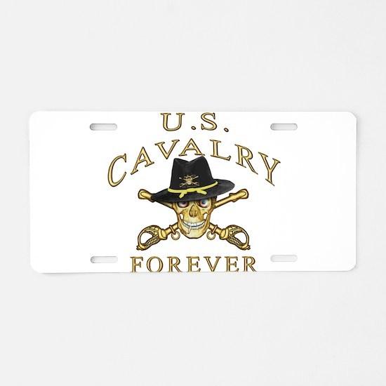 Cavalry Forever Aluminum License Plate