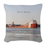 John G. Munson Woven Throw Pillow