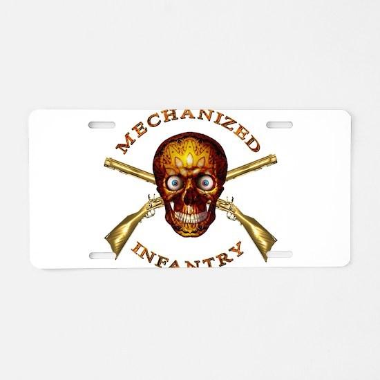 Mechanized Infantry Aluminum License Plate