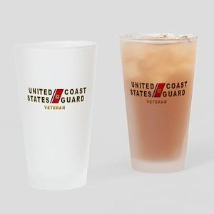 USCG Veteran Drinking Glass