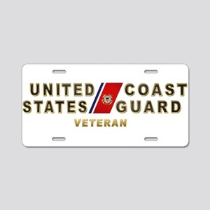 USCG Veteran Aluminum License Plate