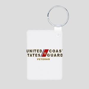 USCG Veteran Aluminum Photo Keychain