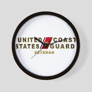 USCG Veteran Wall Clock