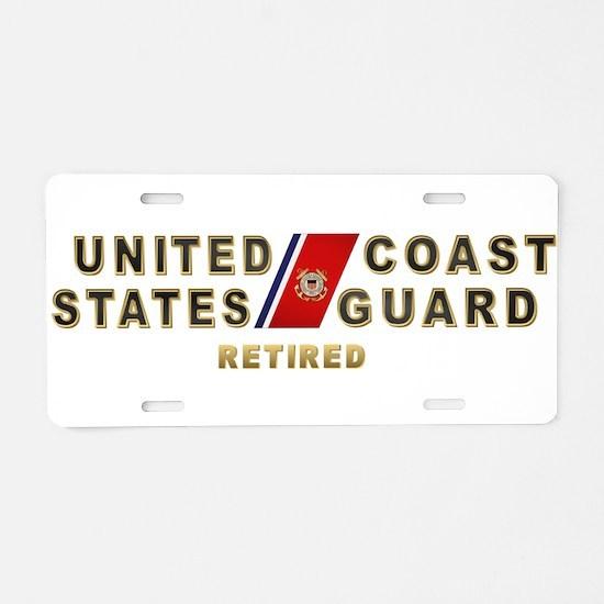 USCG Retired Aluminum License Plate