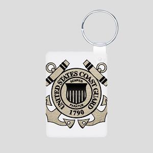 USCG Aluminum Photo Keychain