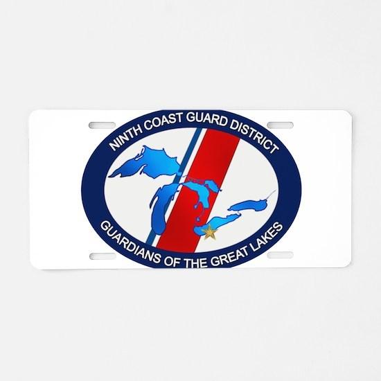9th District USCG Aluminum License Plate