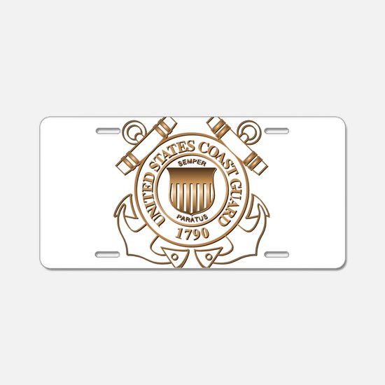 USCG Aluminum License Plate