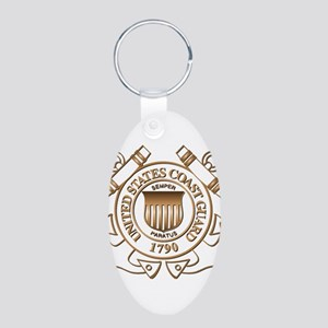 USCG Aluminum Oval Keychain