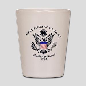 USCG Flag Emblem Shot Glass