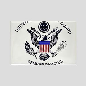 USCG Flag Emblem Rectangle Magnet