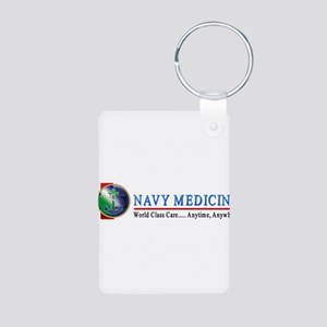 Navy Medicine Aluminum Photo Keychain