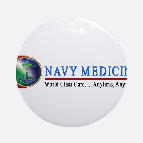 Navy Medicine Ornament (Round)