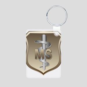 USAF Medical Services Aluminum Photo Keychain