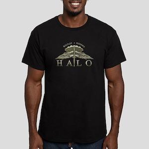 Halo Badge Men's Fitted T-Shirt (dark)