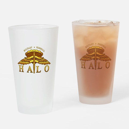 Golden Halo Badge Drinking Glass
