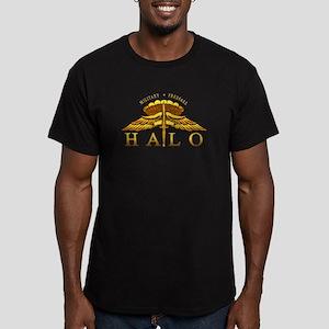 Golden Halo Badge Men's Fitted T-Shirt (dark)