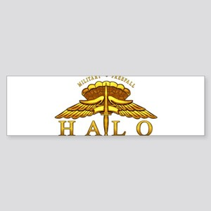 Golden Halo Badge Sticker (Bumper)