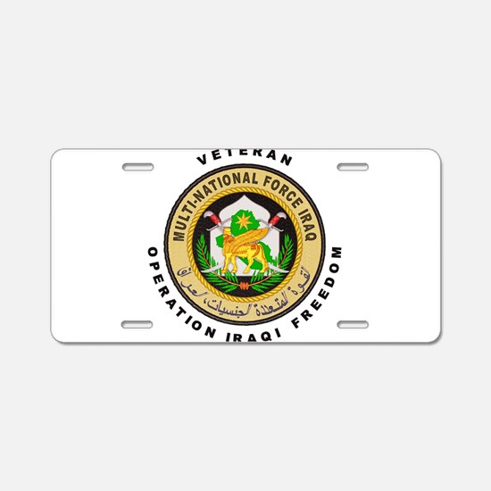 OIF Veteran Aluminum License Plate