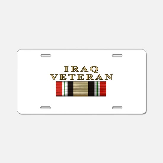 Iraq Vet Aluminum License Plate