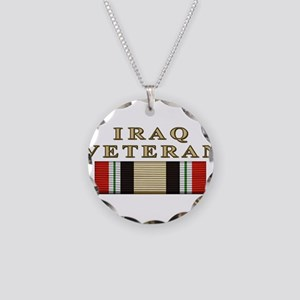 Iraq Vet Necklace Circle Charm