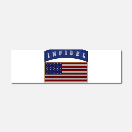 American Infidel Patch Car Magnet 10 x 3