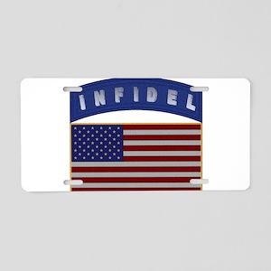 American Infidel Patch Aluminum License Plate