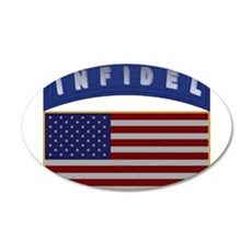 American Infidel Patch 22x14 Oval Wall Peel